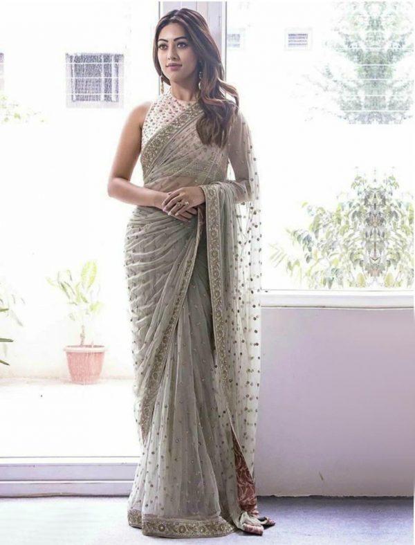 beautiful-anu-emmanuel-grey-color-nylon-mono-net-party-wear-saree
