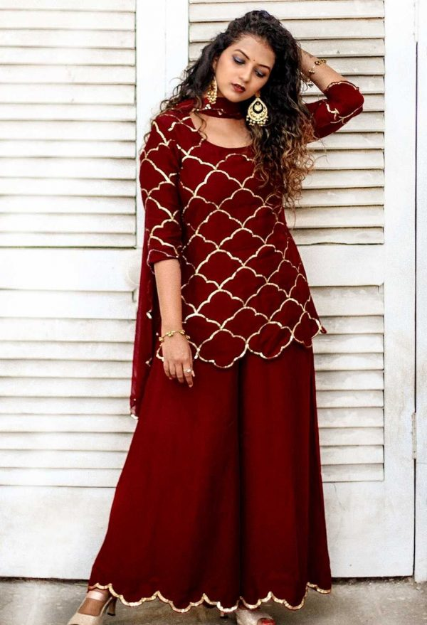 exotic-red-color-embroidery-party-wear-sharara-suit