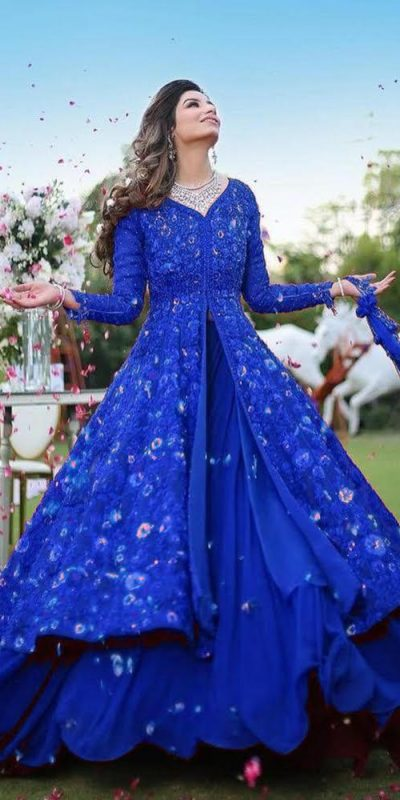 harmonious-blue-color-georgette-with-embroidery-work-party-wear-gown