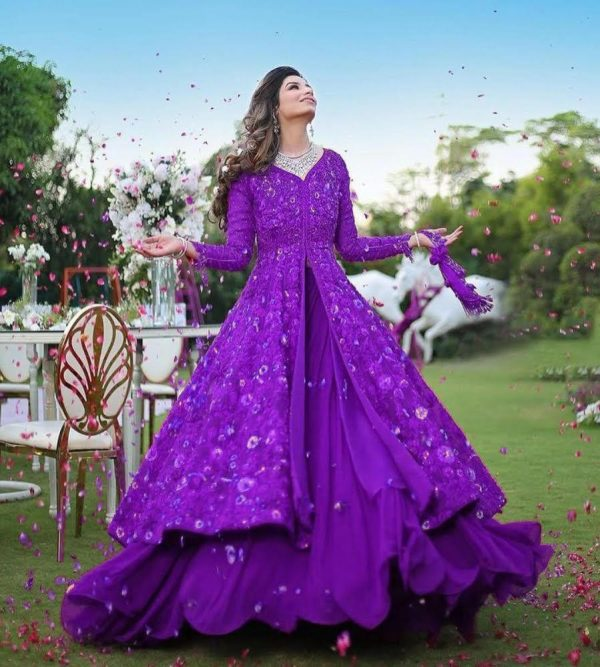 harmonious-violet-color-georgette-with-embroidery-work-party-wear-gown