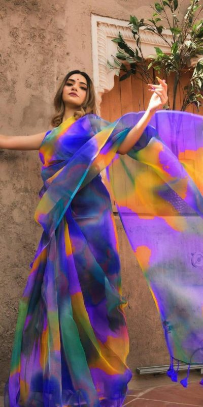 trending-light-weight-violet-with-multi-color-organza-party-wear-saree