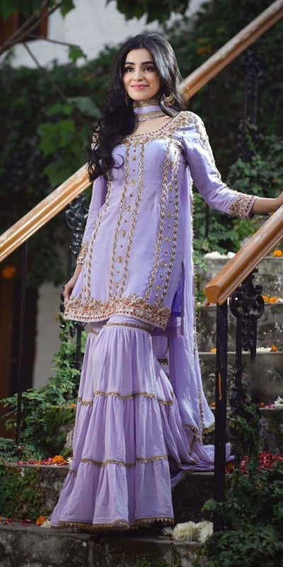 latest-stunning-purple-color-georgette-embroidery-sharara-suit