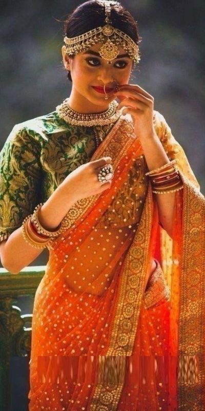 admirable-orange-color-georgette-with-sequence-work-saree