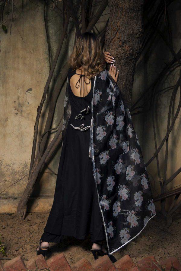 adorable-black-color-trendy-anarkali-with-organza-dupatta