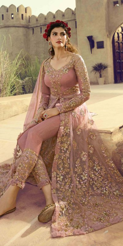 amazing-pink-color-embroidery-on-butterfly-mono-net-trendy-anarkali