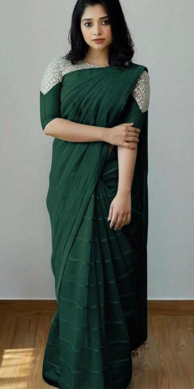 attractive-green-color-heavy-silk-with-sequence-embroidery-fancy-saree