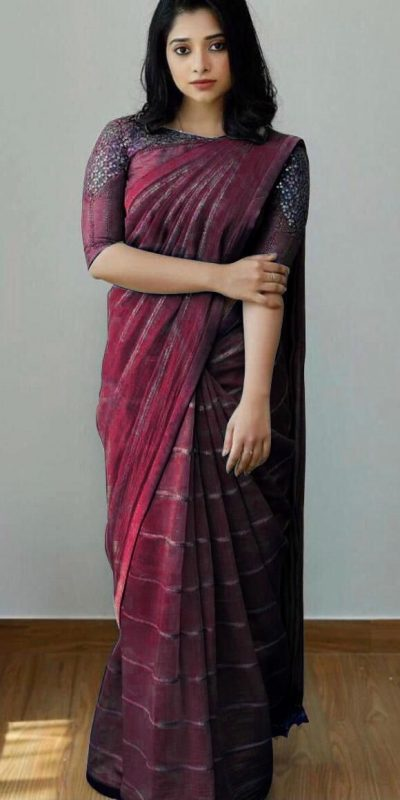 attractive-maroon-color-heavy-silk-with-sequence-embroidery-fancy-saree