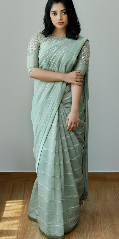attractive-sea-blue-color-heavy-silk-with-sequence-embroidery-fancy-saree