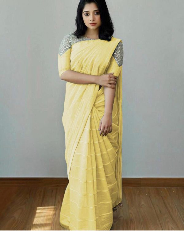attractive-yellow-color-heavy-silk-with-sequence-embroidery-fancy-saree