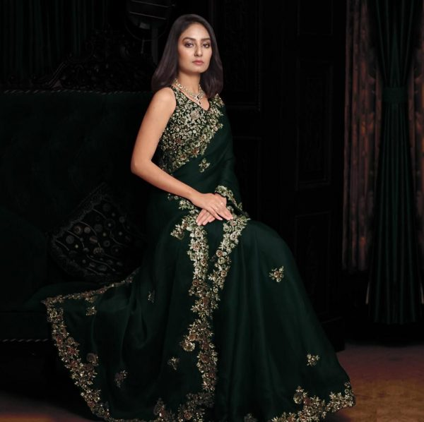 enchanting-green-color-georgette-with-embroidery-work-saree