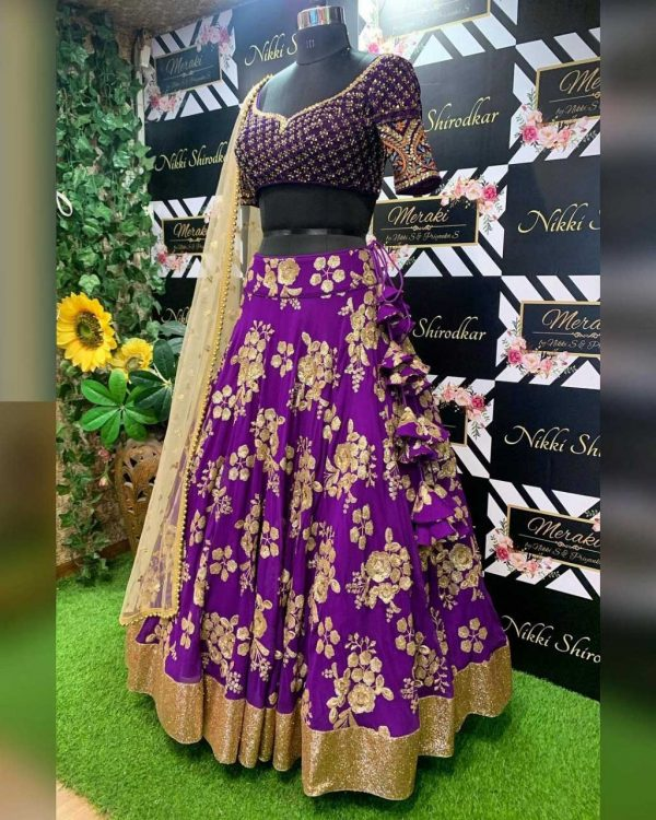 fancy-womens-wear-violet-color-sequence-work-lehenga-choli