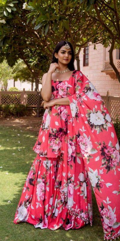glorious-pink-color-american-crepe-designer-trendy-sharara-set