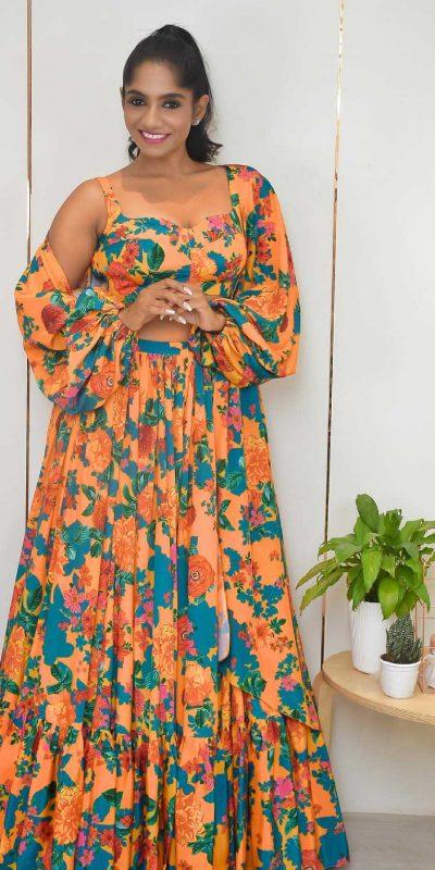 glossy-orange-color-floral-printed-jacket-style-lehenga-choli-copy