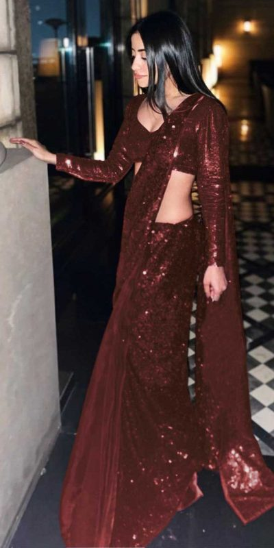gorgeous-brown-color-full-sequence-work-party-wear-saree