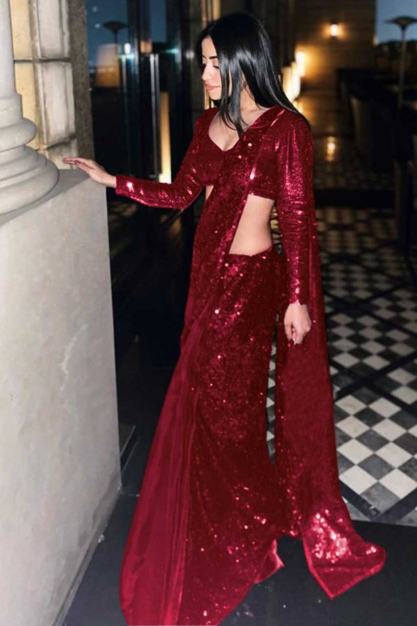 gorgeous-red-color-full-sequence-work-party-wear-saree