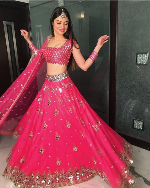 ideal-pink-color-party-wear-real-mirror-work-lehenga-choli