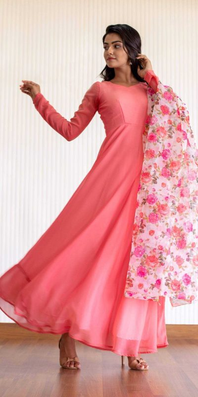 latest-ideal-pink-color-georgette-designer-casual-wear-gown (3)