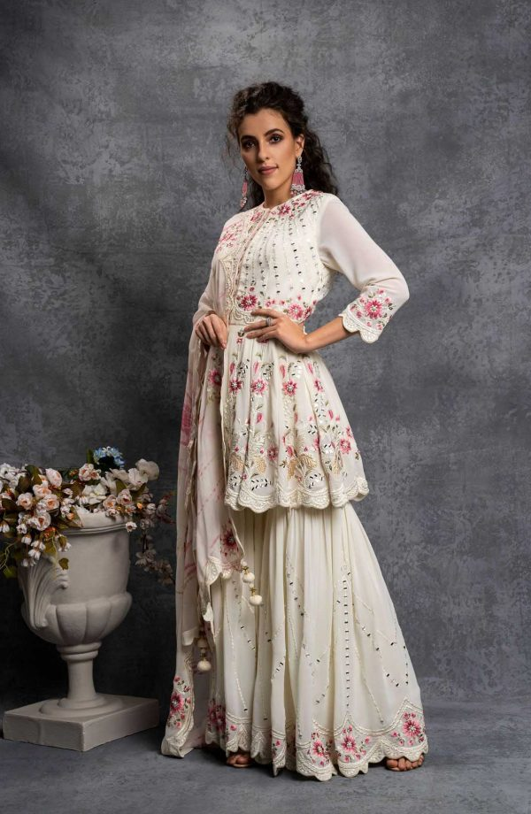 majestic-trendy-white-color-party-wear-sharara-suit