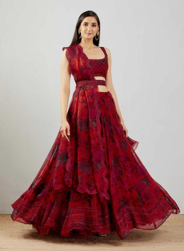 red-color-original-organza-silk-with-embroidery-work-lehenga-choli