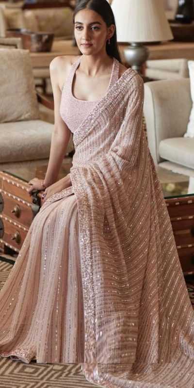 pretty-light-pink-color-heavy-sequence-work-party-wear-saree