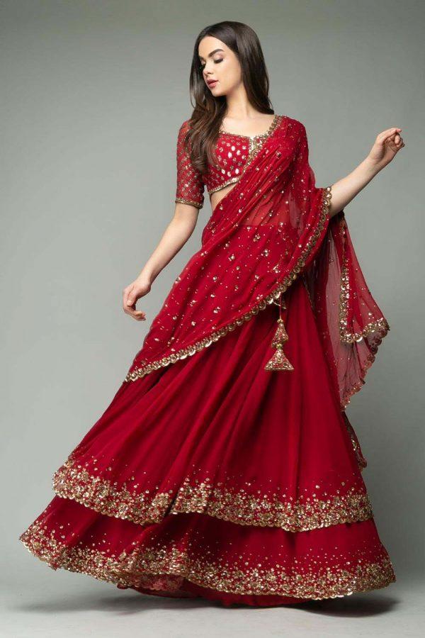 resplendent-red-color-trendy-sequence-work-ruffle-lehenga-choli