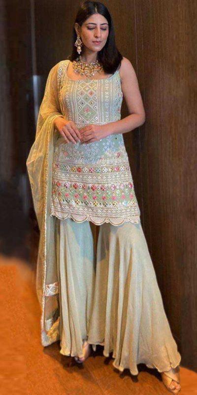 trendy-yankita-kapoor-light-green-color-party-wear-sharara-set