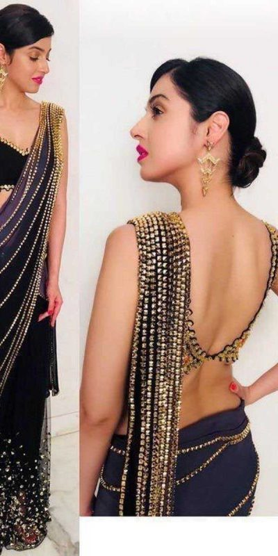 womens-fancy-black-color-sequence-party-wear-saree