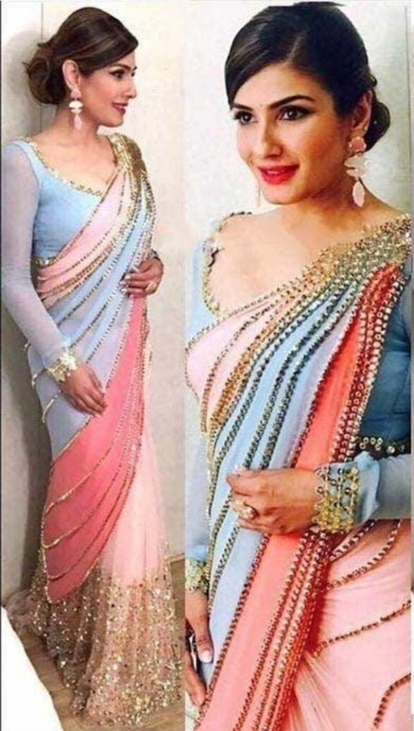 womens-fancy-sky-blue-pink-color-sequence-party-wear-saree