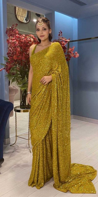 womens-gold-color-party-wear-sequence-sarees