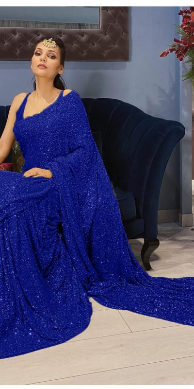 womens-navy-blue-color-party-wear-sequence-sarees