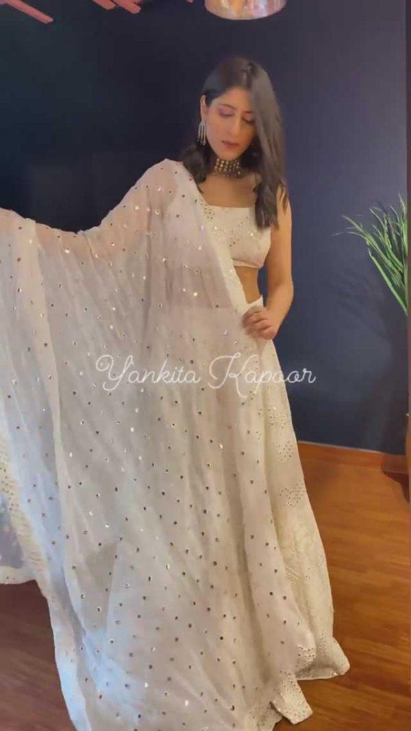 yankita-kapoor-stylish-white-color-wedding-bridal-lehenga-choli
