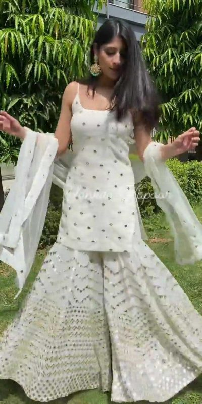 yankita-kapoor-white-color-embroidery-sequence-work-sharara-suit