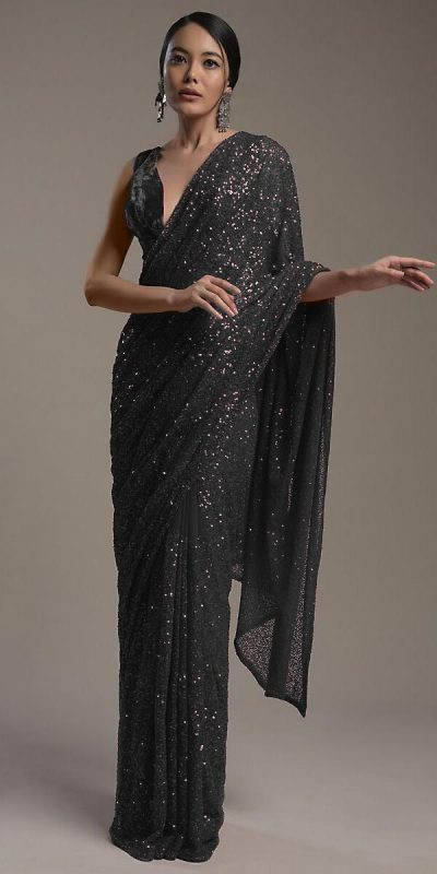 amazing-black-color-heavy-sequence-embellished-party-wear-saree