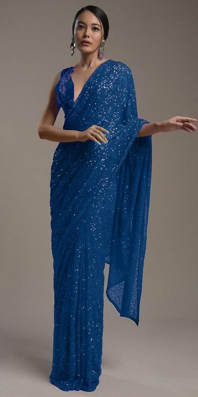 amazing-blue-color-heavy-sequence-embellished-party-wear-saree