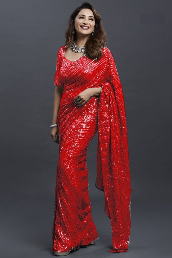dreamy-red-color-georgette-with-fancy-sequence-work-saree