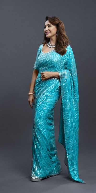 dreamy-Sky Blue-color-georgette-with-fancy-sequence-work-saree-copy