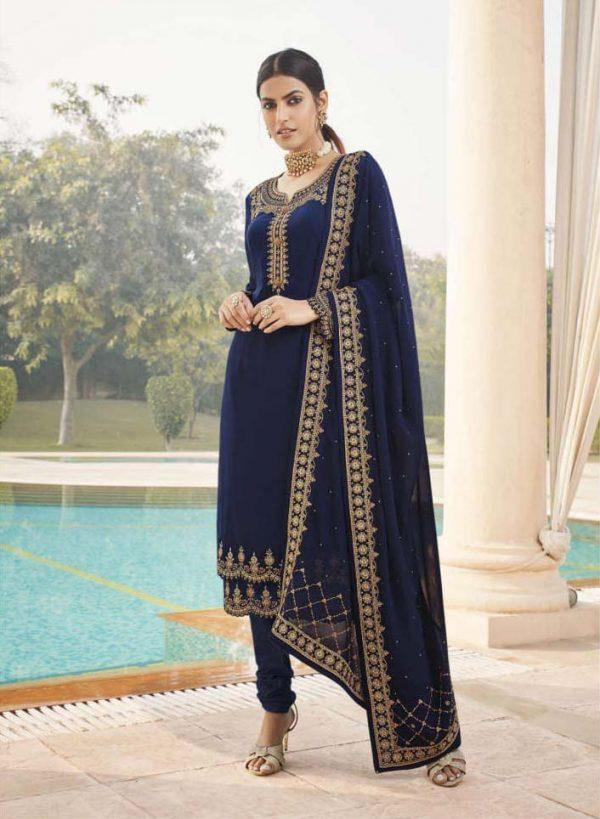 fragile-blue-color-embroidery-diamond-embellished-ethnic-salwar-suit