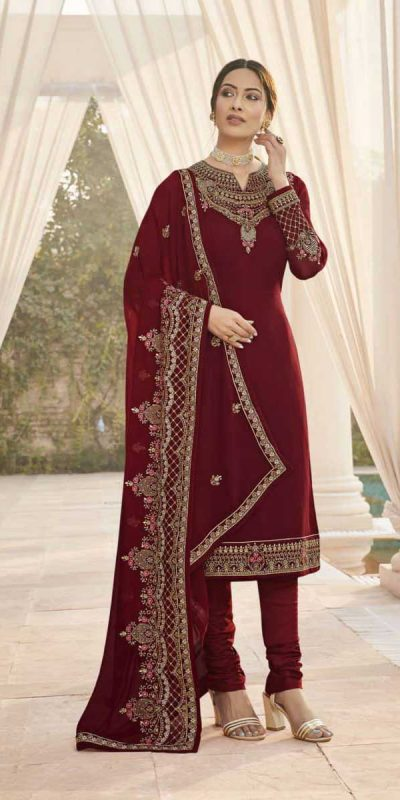 fragile-maroon-color-embroidery-diamond-embellished-ethnic-salwar-suit