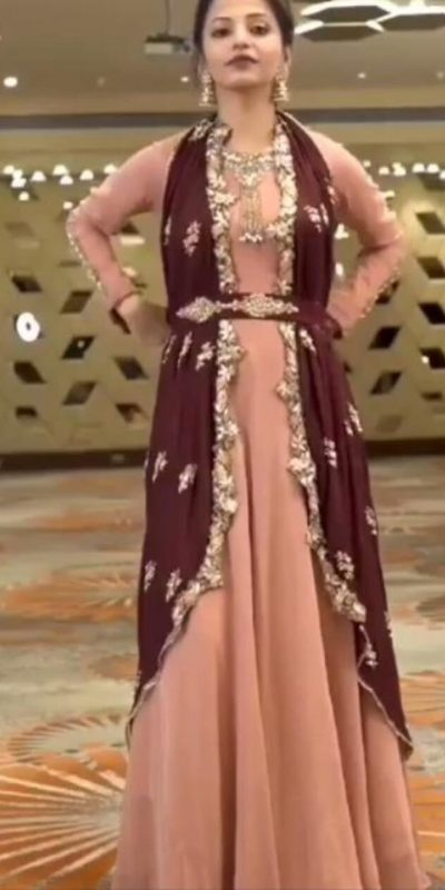harmonious-pink-color-cording-embroidery-work-party-wear-gown
