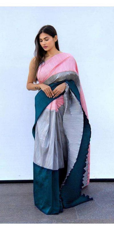 hypnotic-grey-pink-color-pleating-work-with-digital-printed-saree