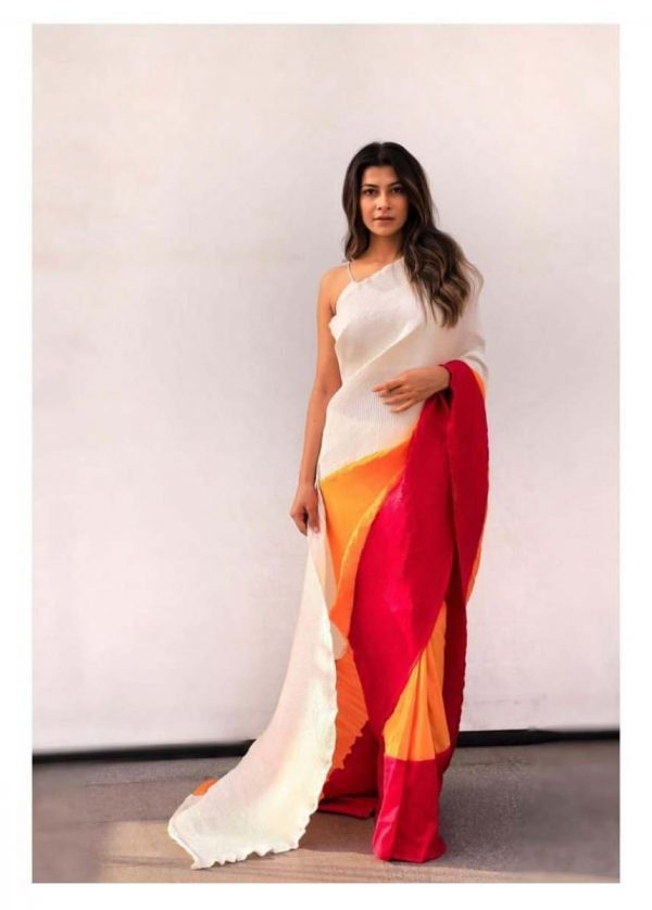 hypnotic-red-yellow-color-pleating-work-with-digital-printed-saree