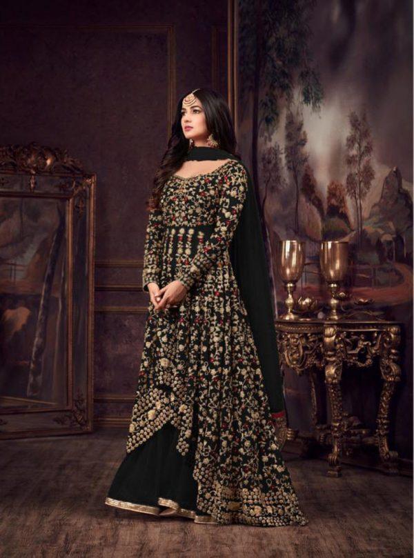 maisha-womens-wear-black-color-heavy-net-embroidered-stone-work-sharara-suit
