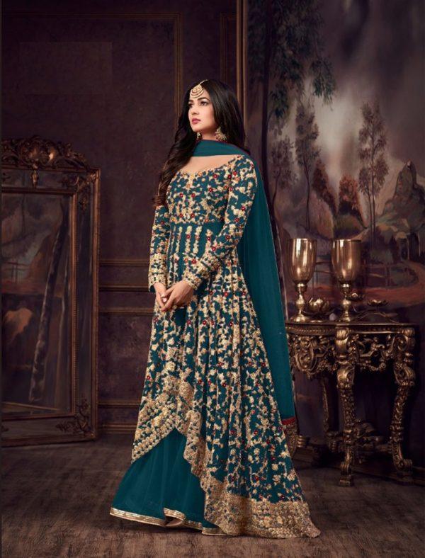 maisha-womens-wear-peacock-blue-color-heavy-net-embroidered-stone-work-sharara-suit