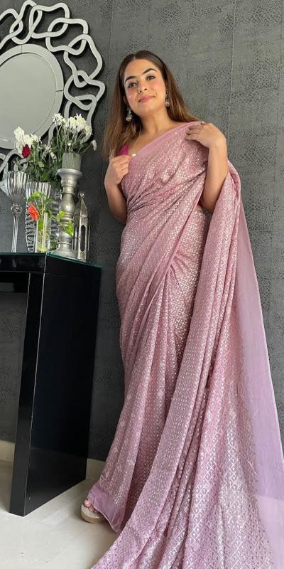 perfect-formed-pink-color-sequence-embellished-party-wear-saree