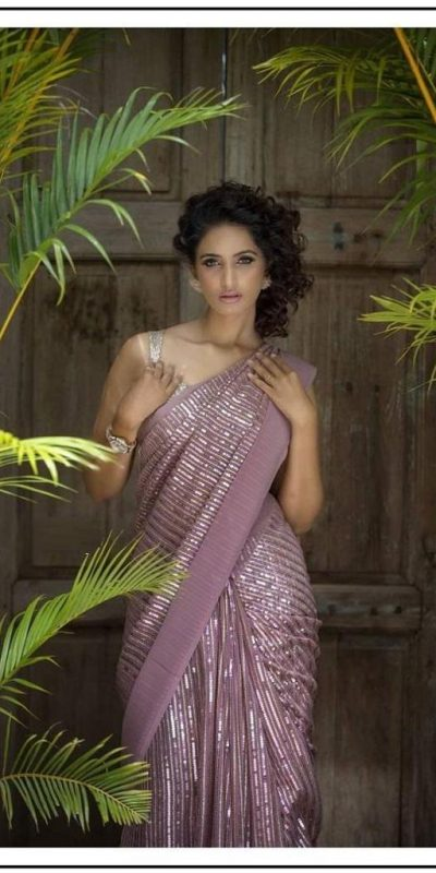 winning-purple-color-tow-tone-sequence-embellished-party-wear-saree