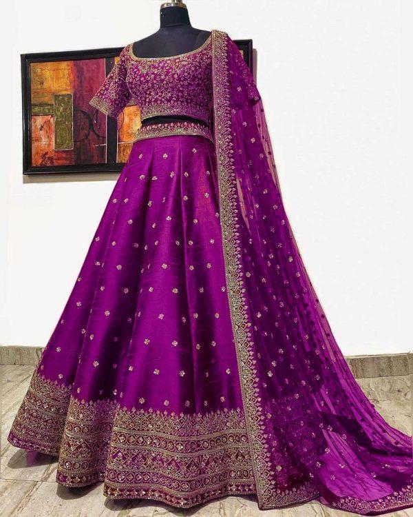 elegant-pink-color-embroidery-sequence-work-festive-lehenga-choli