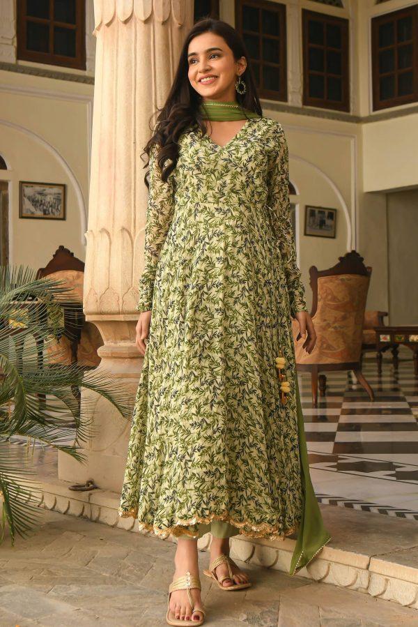 fancy-vintage-green-color-floral-printed-party-wear-designer-anarkali