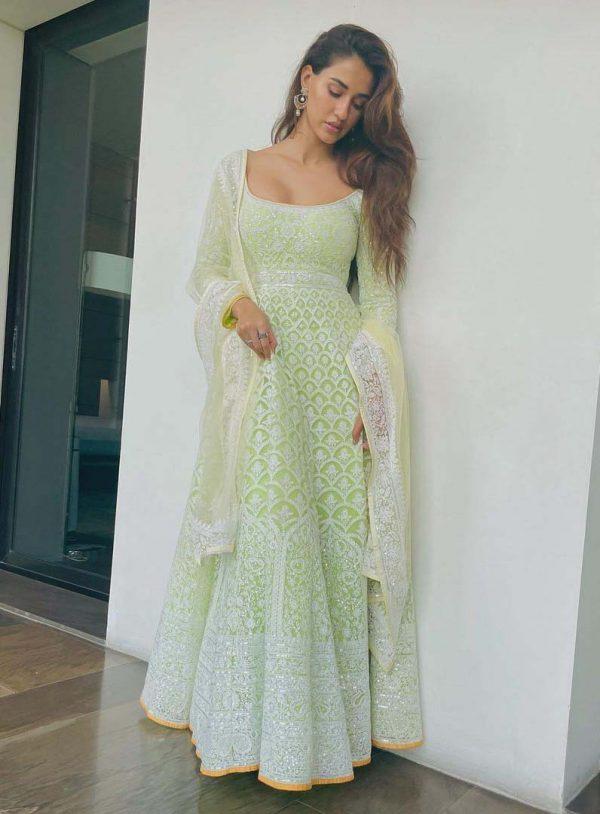 gorgeous-disha-patani-in-fancy-light-green-color-designer-anarkali