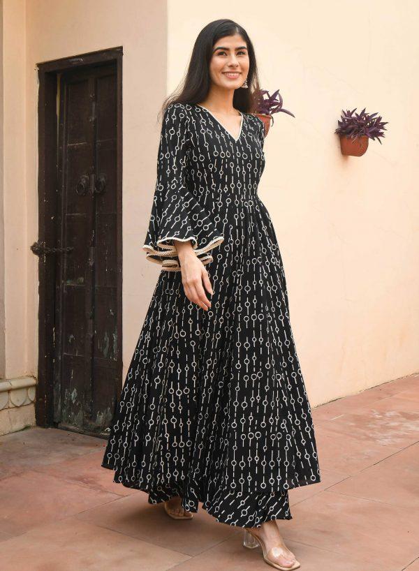 lovely-black-color-floral-printed-party-wear-designer-sharara