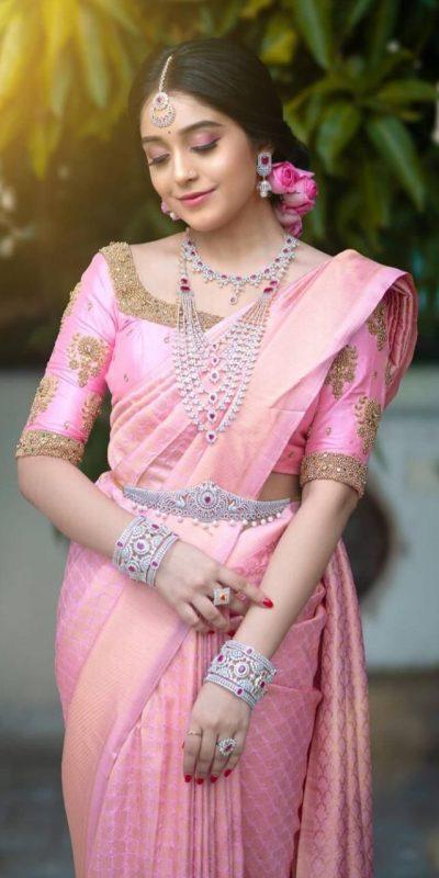 superb-pink-color-beautiful-jacquard-work-trendy-wedding-saree